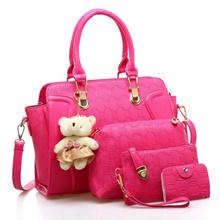 Shoulder Bags Handbag Sets 4 In 1 Composite Bag Women Shoulder Messenger Bags Clutches PU Leather Tote Crossbody Bag