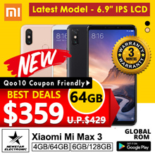 [GROUPBUY]Xiaomi Mi Max 3 | With Playstore Installed | SG Seller | Export Set| Latest Model
