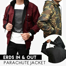 NEW COLLECTION - Reversible Parachute JACKET- ERDS Jaket Parasut Bolak-Balik -Good Quality