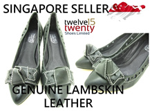 twelve15twenty Genuine Lambskin Leather Ribbon Heels Ladies Women Shoes