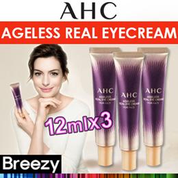 BREEZY ★ [AHC] Ageless Real Eyecream for Face 12mlx3 /  A.H.C-Real Eye Cream 30ml
