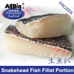 [All Big]Snakehead Fish Fillet Portion(500G)(4-5Pcs)(Frozen)