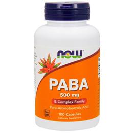 Now Foods, PABA, 500 mg, 100 캡슐