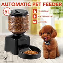 COUPON: AUTOMATIC PET FEEDER 5L Electronic Portion Control LCD Voice Recorder Food Dispenser Dog Cat