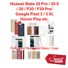 Full Cover Tempered Glass/Case*Google Pixel 3 2 XL/Huawei Mate 20/20 Pro/20 X/P20/Pro/Honor Play