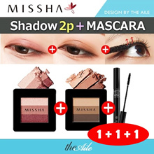 [MISSHA] ★1+1+1★ Missha TRIPLE SHADOW 1+1 / 3D or 4D mascara 1
