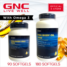 GNC Fish Body Oils 1000 [Supplements/Fish Oil/Joints]