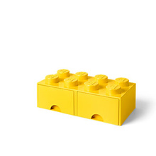 LEGO 8 - Stud Storage Brick Drawer: YELLOW (LS-40061732)