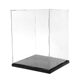 wholesale Clear Acrylic Display Box Dustproof Protection Model Show Case With LED Lights