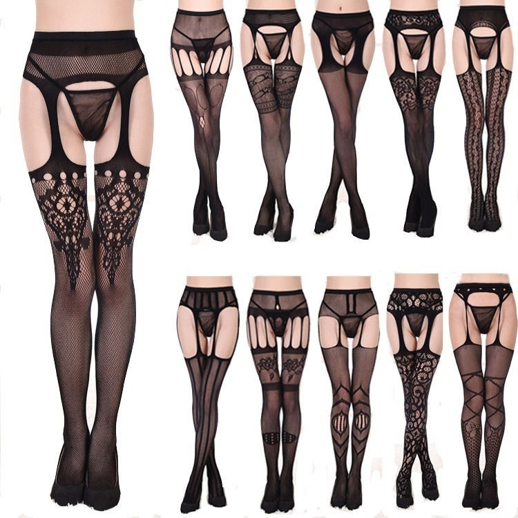 Stockings and garter belt only