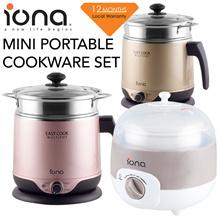 Iona Mini Portable Cookware Set [0.8L Double Boiler] [0.6L Rice Cooker] [1.8L Multi Cooker] Warranty
