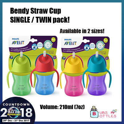 [Promotion] Philips Avent Bendy Straw Cup [Available in both 210ml and 300ml]