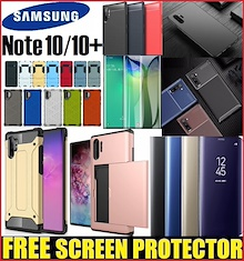 ★ Samsung Galaxy Note 10 / Note 10+ / Note 10 Plus / S10 Phone Case Casing Tempered Glass Protector