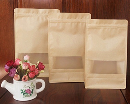 Stand Up Ziplock Bag - Kraft Paper / Frosted / Transparent