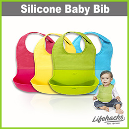 ★ Silicone Baby Bib with Waterproof Pocket ★ Food Grade Silicone – Soft and Safe / Easy to Wash