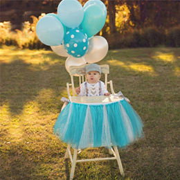 Handmade Fluffy High Chair Tutu Skirt Baby First Second Birthday Party Girls Sequin Patchwork Tulle
