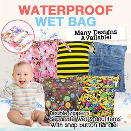New Arrival Design Promotion waterproof diaper Wet Bag/swimming bag/diaper/zipper/gym/wetbag