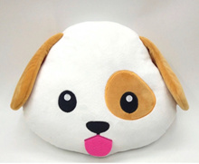 Emoji Dog Cushion • Emoticon Soft Plush Pillow • Year of The Dog