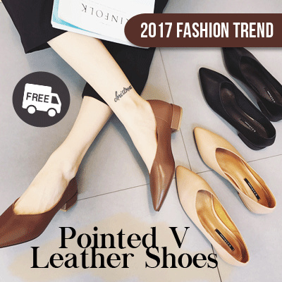 POINTED V LEATHER