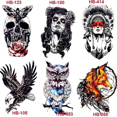 299d82100 Cool Temporary Tattoo Indian Lion Warrior Fake Flash Men Tattoo Sticker  21x15cm(Buy two pieces