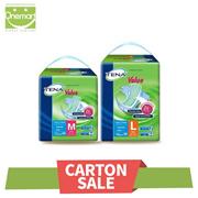 *$59.9 Carton Sale* TENA Tape Value M (8x12s)/Value L (8x10s) Adult Diapers