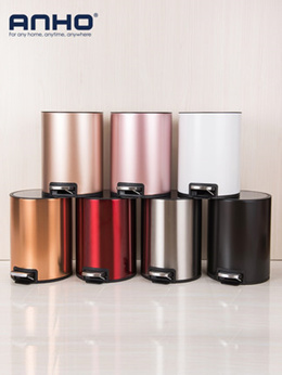 Stainless steel trash can pedal-style fashion and creative home bathroom kitchen living room bedroom