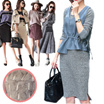 lace mini  dress/winter  dress/fur dress/casual dress/wool dress