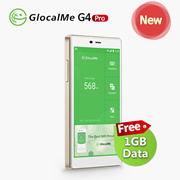 [Free 1Gb Data] GlocalMe G4 Pro 4G LTE Mobile Hotspot WIFI Router, Worldwide High Speed, No SIM Card