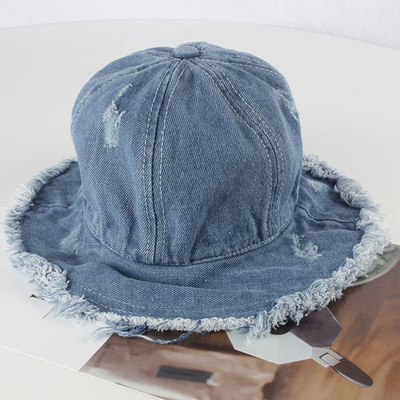 Japan and South Korea as the old denim fishing hat children travel SUNCAP  New Baby Hat d925dc974c9