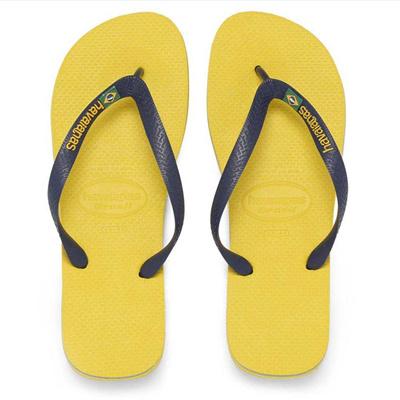 488263cc3 Qoo10 - Havaianas Brazil Logo Citrus Yellow Flip Flop   Men s Bags ...