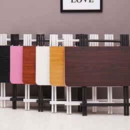 收缩多功能折叠吃饭小饭桌简易正方形方桌可吃饭桌子木头家用餐桌