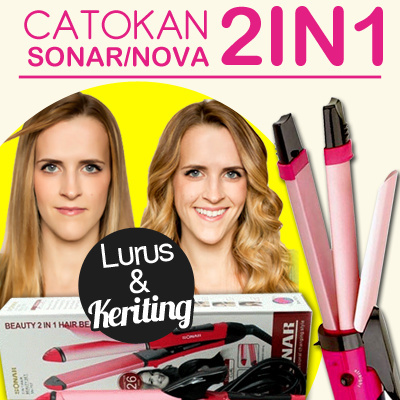CATOKAN SONAR/NOVA 2IN1 HAIR BEAUTY SET SN-757 | Dapat Catok Lurus dan