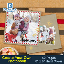 "40-Page Personalised 8""x 8"" Small Square Imagewrap Hardcover Photobook from Photobook Singapore"