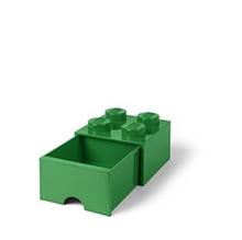 LEGO 4 - Stud Storage Brick Drawer: DARK GREEN (LS-40051734)