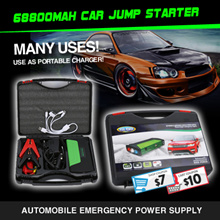 68800mAh Multi-Function Car battery Jump Starter PowerBank Portable Charger for Laptop/phone/ipad