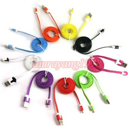 1M/2M/3M 1 2 3 METER FLAT COLOR MICRO USB CABLE for SAMSUNG LG NOKIA HTC SONY ERICSSON BLACKBERRY
