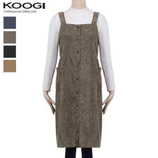 釘宮ゴールデンシャーリングポケットワンピースKK3OP3125A 綿ワンピース/ 韓国ファッション