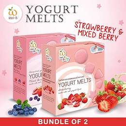 [WelB] ♥ Yogurt Melts x 2 for only $10 ♥ Baby snacks ♥ Strawberry ♥MIXED BERRY♥ Halal ♥ 100% natural