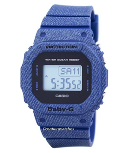 [CreationWatches] Casio Baby-G Denimd Alarm Digital 200M BGD-560DE-2 Womens Watch