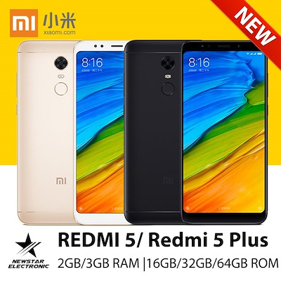 Xiaomi Redmi 5/5 Plus |12 MP Cam | 2GB/3GB RAM | 16GB/32GB Storage | Playstore Install Deals for only S$499 instead of S$0