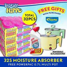 ThirstyHippo Dehumidifier Moisture Absorber 600ml x 4packs Carton! Free Gift with Purchase