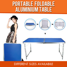 [Ready Stock] Lowest price in SG !! 120x60cm Portable Foldable Aluminium Table EVENT / PARTY