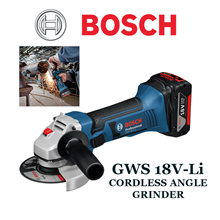 Bosch GWS 18V-Li Cordless Angle Grinder 18V (BARE TOOLS ONLY!) *The Most Powerful 18-Volt Angle Grinder *Compact Extremely Robust And Durable