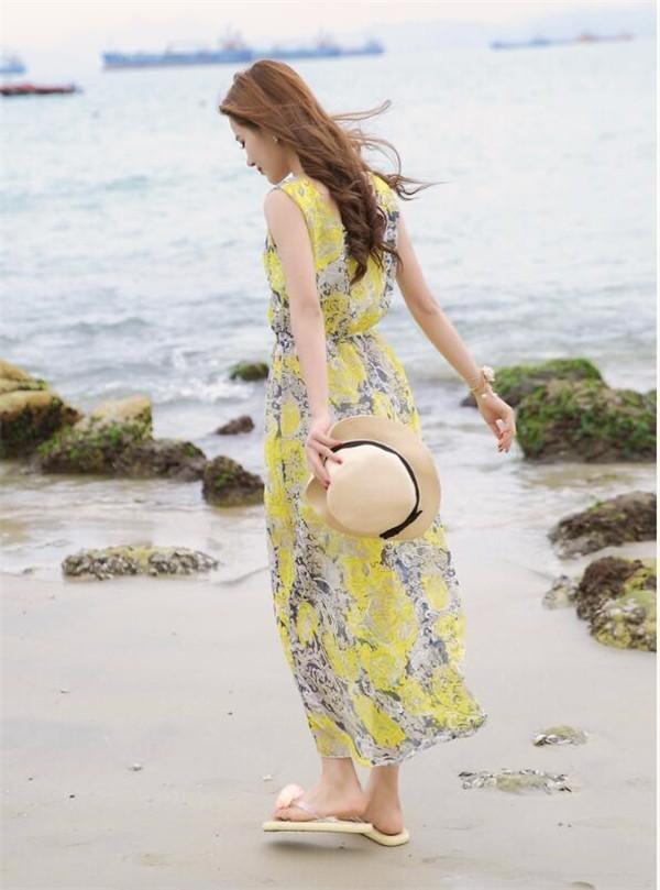 レディースワンピース ビーチワンピース シフォン ボヘミヤ風 ファッション ハイセンス 着心地いい おしゃれ 夏 レディースワンピース