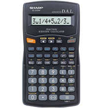 SHARP EL-503W-BK 11+2-Digit Scientific Calculator 153 functions EL503W
