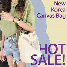 [SG] ❤Korea Women Shoulder Bag Sling Bag Canvas Bucket Tote Bags Super Hot Guarantee High Quality