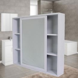 Aluminum Bathroom Mirror Cabinet Mirror Box Bathroom Mirror Grooming Mirror Case Storage Cabinet Wal