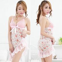 Peach Flower Women Babydoll Lingerie Sleepwear MX03