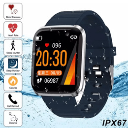 2019 Smart Watch Heart Rate Monitor/IP67/Blood /Pressure/Oxygen/Heart-rate/Pedometer/Sleep Monit
