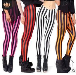 Vertical Stripes Leggings Women Soft High Quality Joggings Golden Black Pants Patchwork Slim Legging